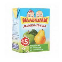 Сок, Фрутоняня 200 мл Малышам яблоко груша без сахара с 3 мес