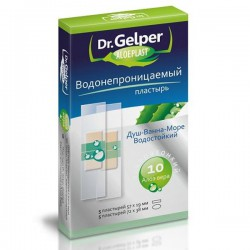 Пластырь, Др. Гелпер №10 алоэпласт водонепроницаемый