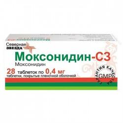 Моксонидин-СЗ, табл. п/о пленочной 0.4 мг №28