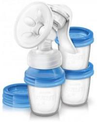 Молокоотсос, Авент SCF 330/13 арт. 86540 ручной с контейнерами для хранения молока