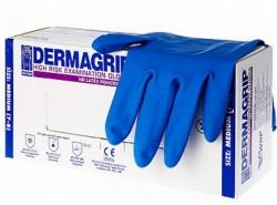 Перчатки смотровые латексные нестерильные, Дермагрип р. L №25 пар Хай риск повышенной прочности неопудренные